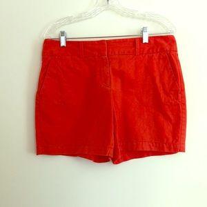 Orange Shorts, Ann Taylor Loft, Size 6